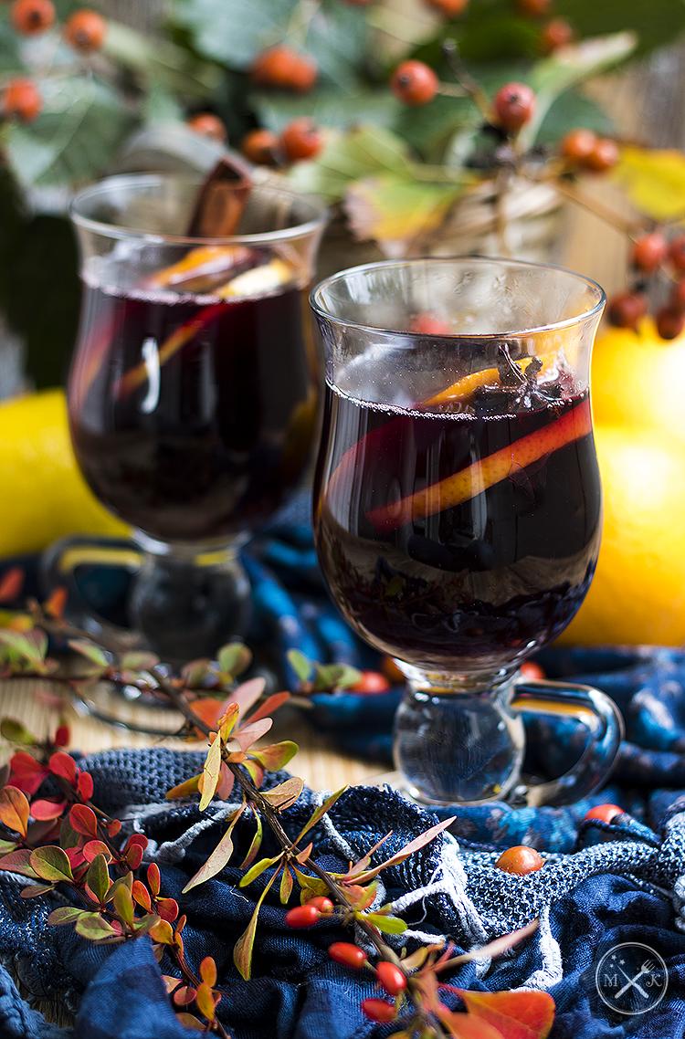 Grzane wino z korzeniami