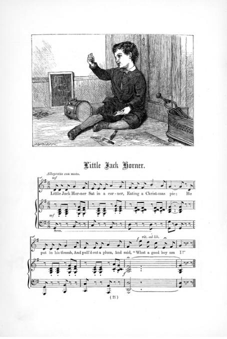 Little Jack Horner - ilustracja